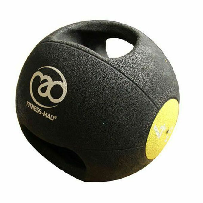 Fitness Mad Double Grip Medicine Ball 4KG