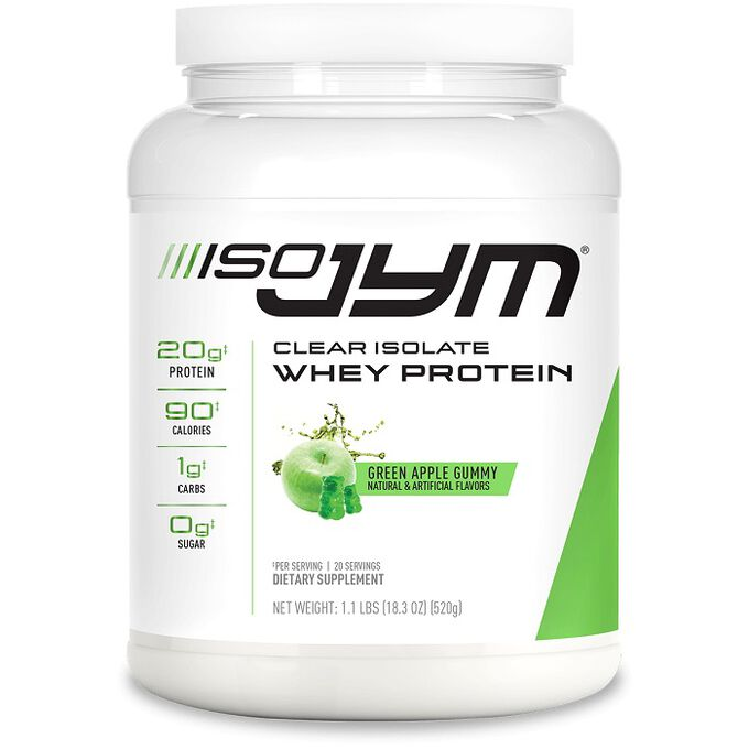 JYM Supplement Science ISO Jym Clear Isolate Whey Protein 520g Green Apple