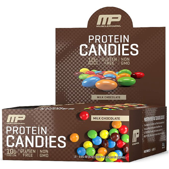 MusclePharm Protein Candies 12 Bags Milk Chocolate