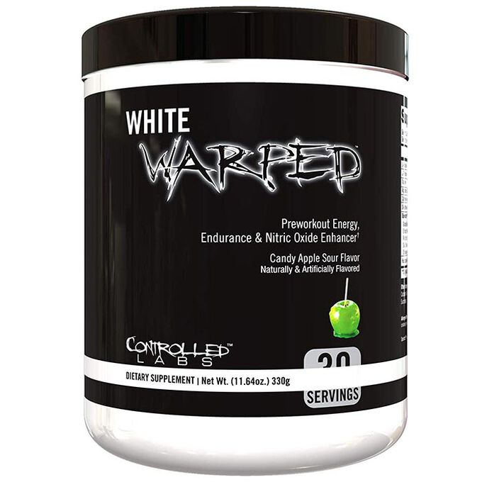 White Warped 30 Serving Candy Apple Sour