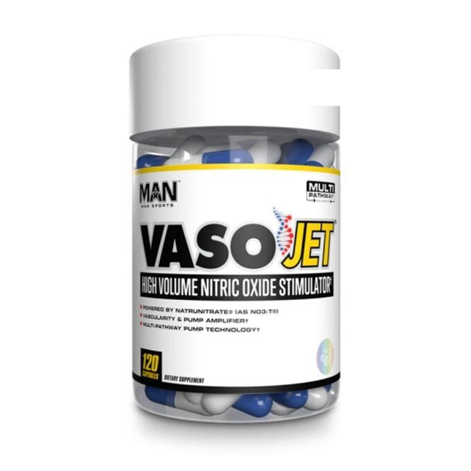Man Sports VasoJet Nitric Oxide Amplifier 120 Capsules