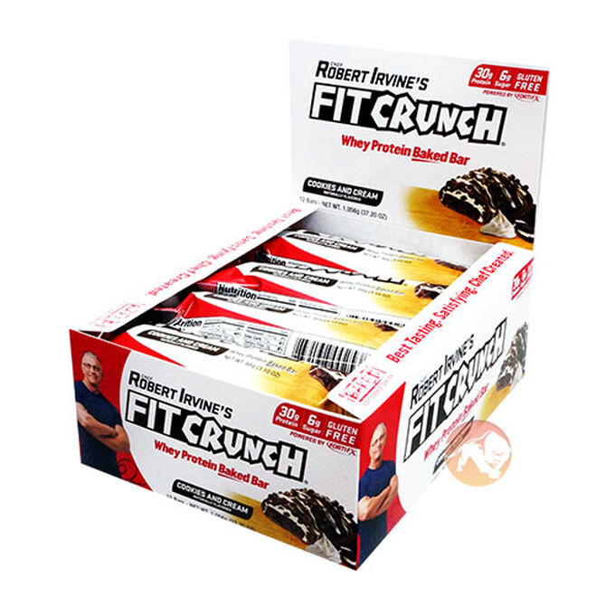 Chef Robert Irvine Fit Crunch Bars 12 x 88g Cookies & Cream 12 Bars