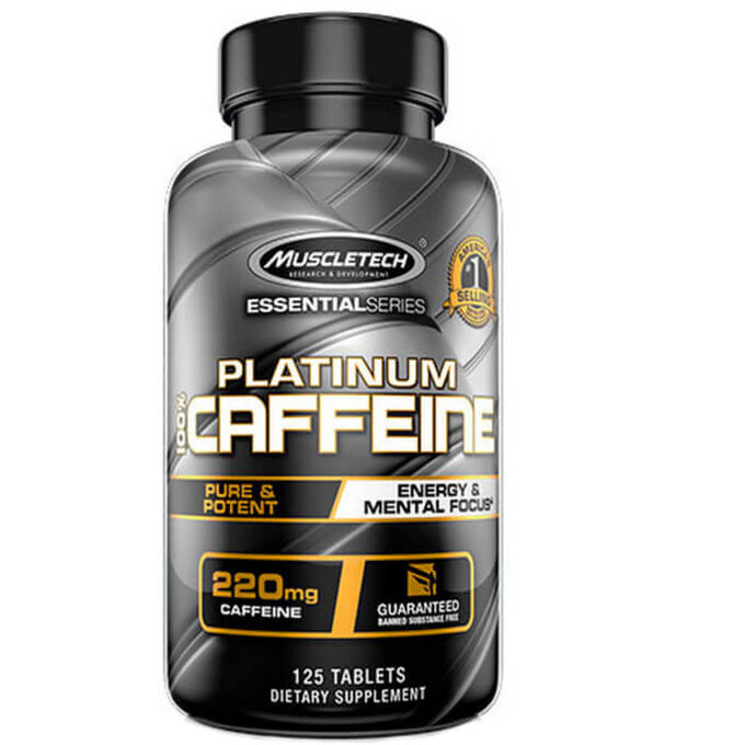 Muscletech Platinum 100% Caffeine 125 Tablets