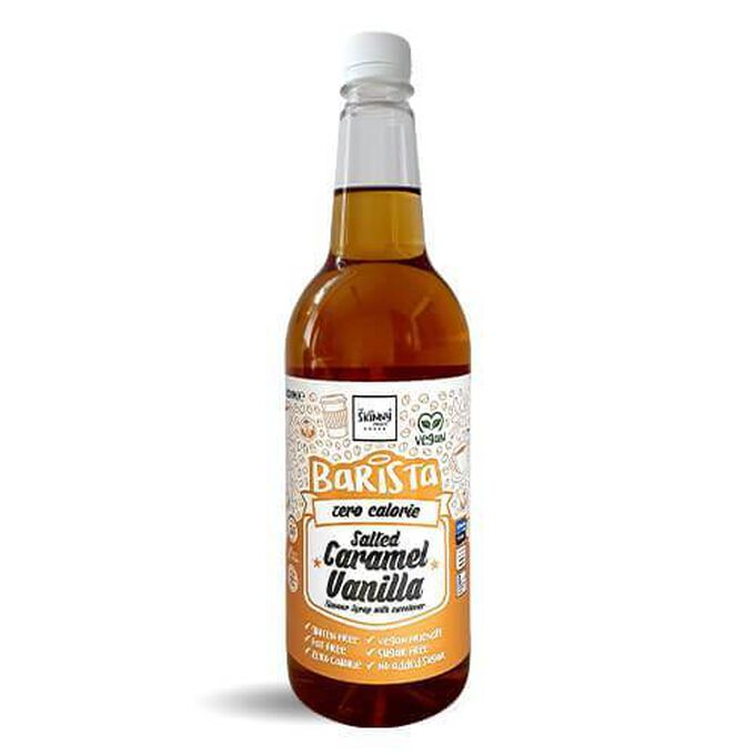 The Skinny Food Co Non-Dairy Sugar Free Barista Syrup 1 Litre  Salted Caramel Vanilla