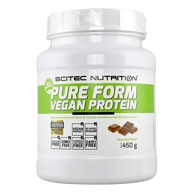 Scitec Nutrition Pure Form Vegan Protein 450g Chocolate