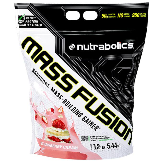Nutrabolics Mass Fusion 5.44kg Strawberry