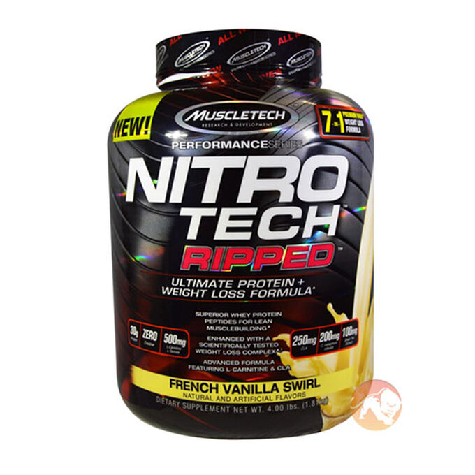 Muscletech Nitro-Tech Ripped 1.8kg French Vanilla Swirl