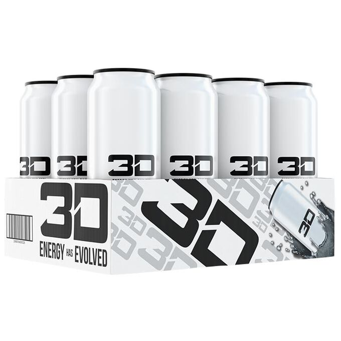 3D Energy 3D Energy Drink 12 Cans White