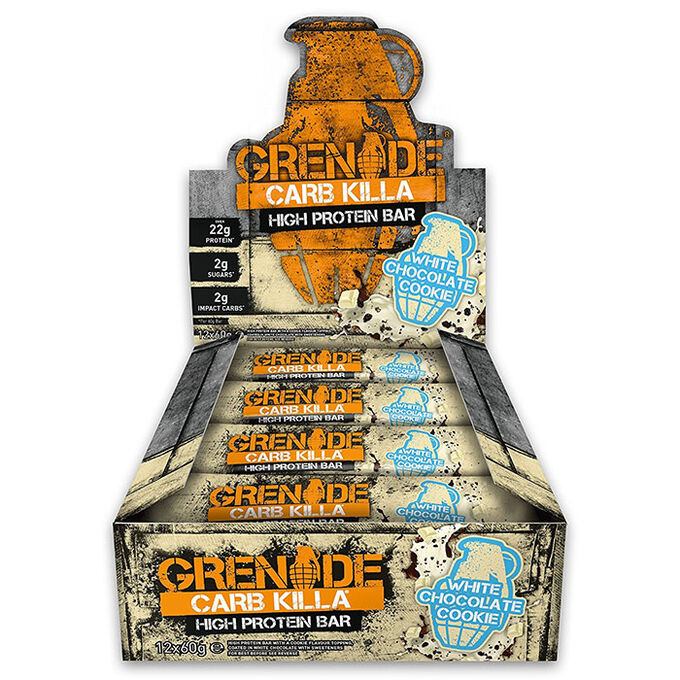 Grenade Carb Killa Bars 12 Bars White Chocolate Cookie