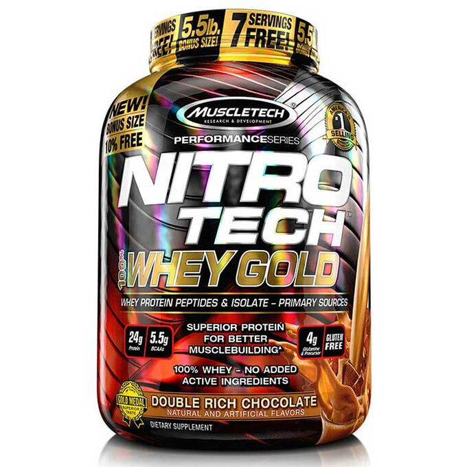 Muscletech Nitro-Tech 100% Whey Gold 2.27kg Double Rich Chocolate