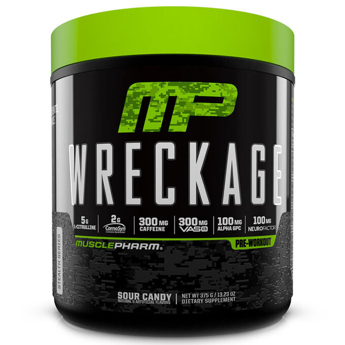 MusclePharm Wreckage 25 Servings Sour Candy