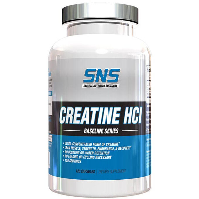 Serious Nutrition Solutions Creatine HCL 120 Capsules