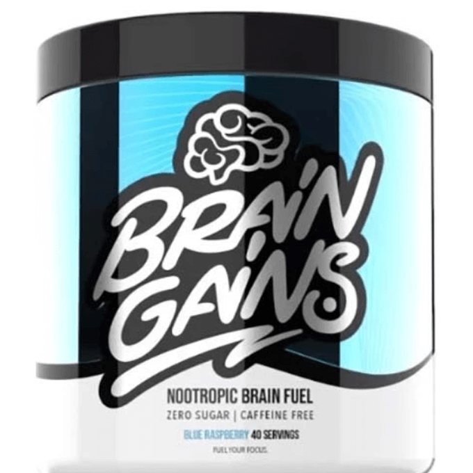 Brain Gains Nootropic Brain Fuel 40 Servings Blue Raspberry