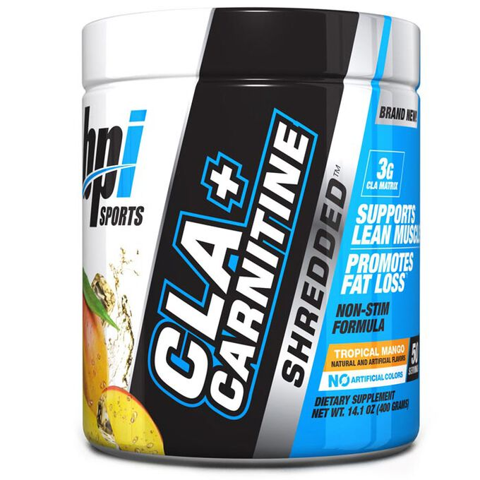 BPI Sports CLA + Carnitine Shredded 50 Servings Tropical Mango