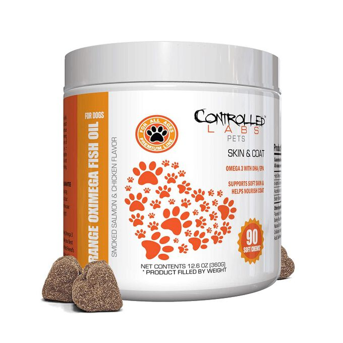Controlled Labs Pets Orange Oximega Fish Oil for Dogs 90 Soft Chews