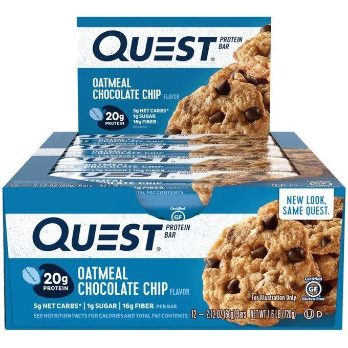 Quest Nutrition Quest Bars 12 Bars Oatmeal Chocolate Chip