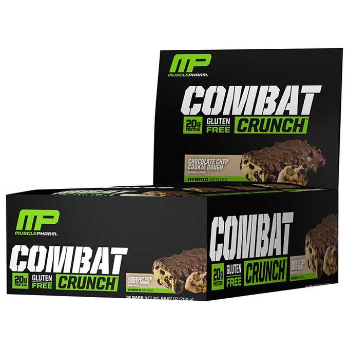 Combat Crunch Bars 12 Bars-Chocolate Chip Cookie Dough