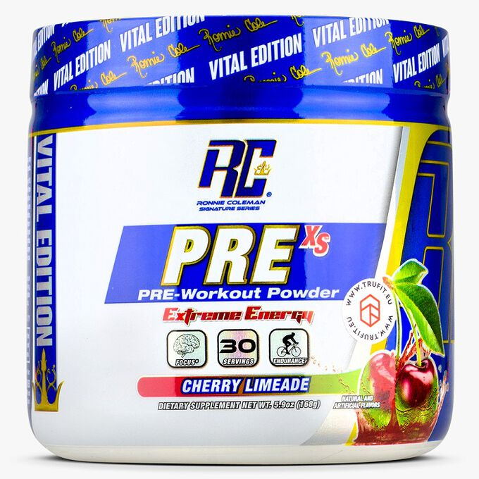 Ronnie Coleman SignatureSeries Pre-XS 30 Servings Cherry Limeade