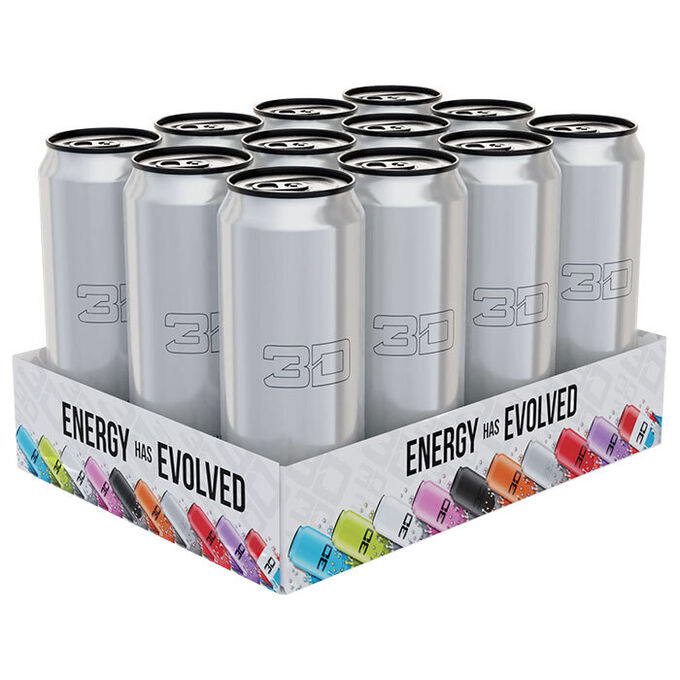 3D Energy 3D Energy Drink 12 Cans Silver