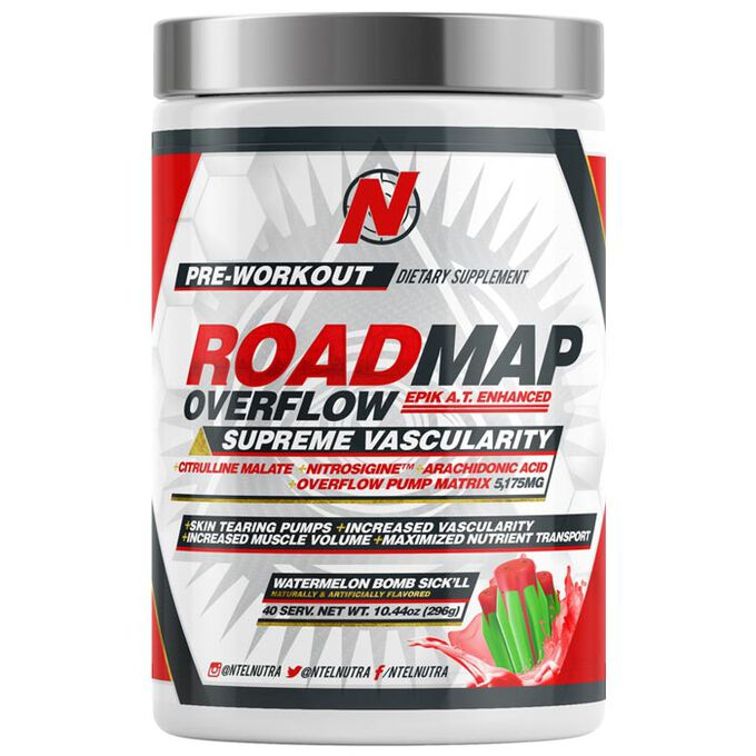 NTEL Nutra Roadmap Overflow 40 Servings Watermelon Bomb Sick'll