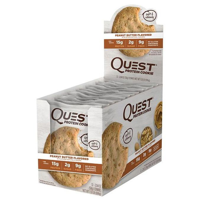 Quest Protein Cookie 12 Cookies Peanut Butter