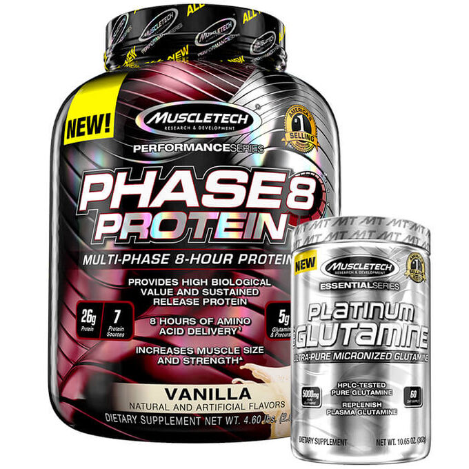 Muscletech Phase 8 2kg (4.4lb)  Strawberry