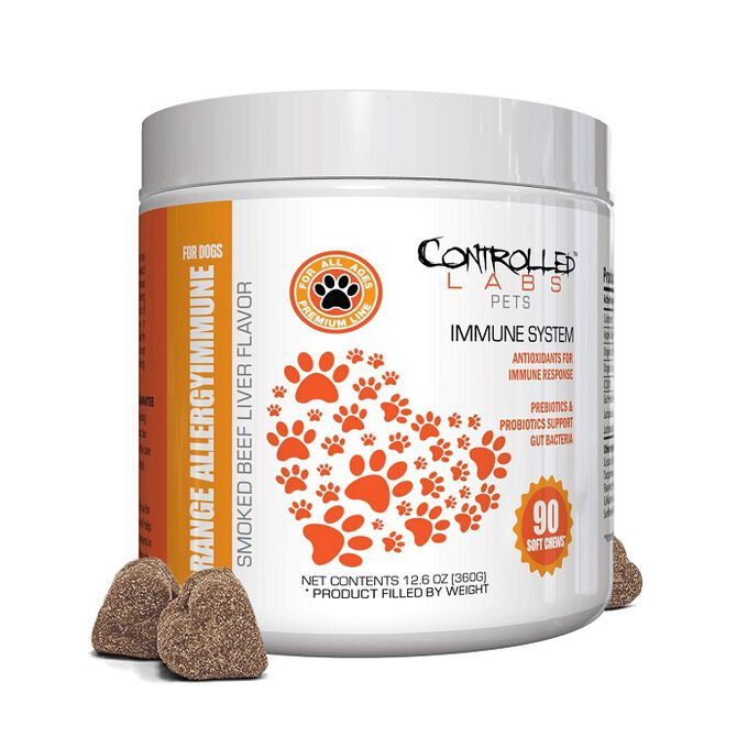 Controlled Labs Pets Orange Allergy Immune for Dogs 90 Soft Chews