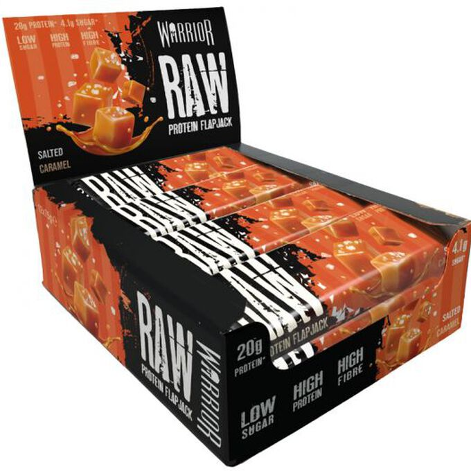 Warrior Warrior Raw Protein Flapjacks 12 Pack Salted Caramel