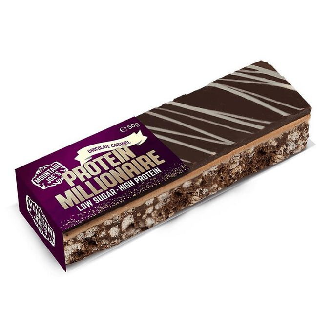 Mountain Joe's Protein Millionaire 10 bars Chocolate Caramel