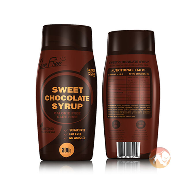 Care Free Care Free Syrup 300g Sweet Chocolate