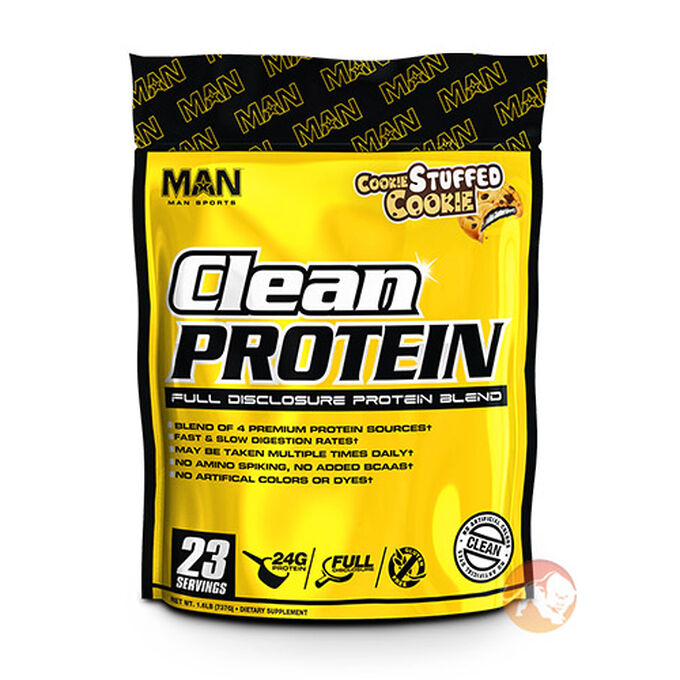 Man Sports Clean Protein 1.6lb Peanut Butter Bits