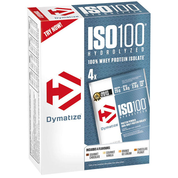 Dymatize ISO 100 Multipack 4 Servings Various Flavours