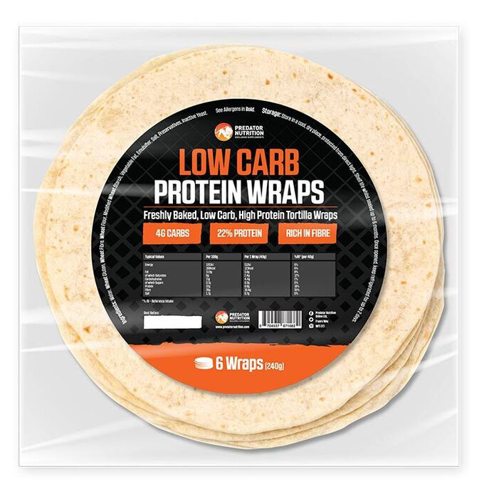 Predator Nutrition Low Carb High Protein Tortilla  6 Wraps