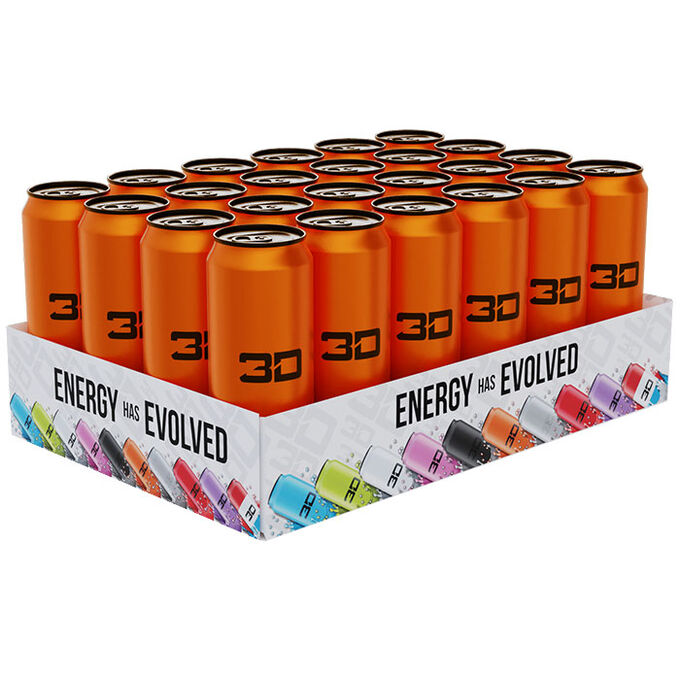 3D Energy 3D Energy Drink 24 Cans Orange