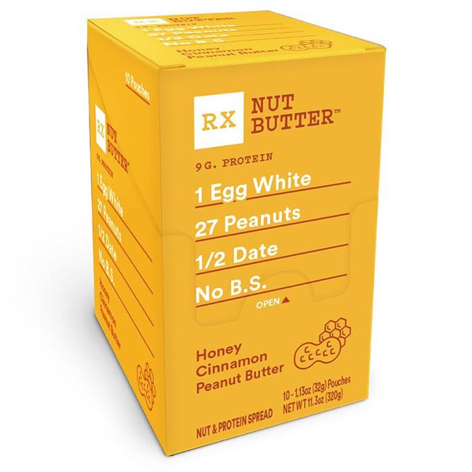 RX Nut Butter 10 Packs Honey Cinnamon Peanut Butter