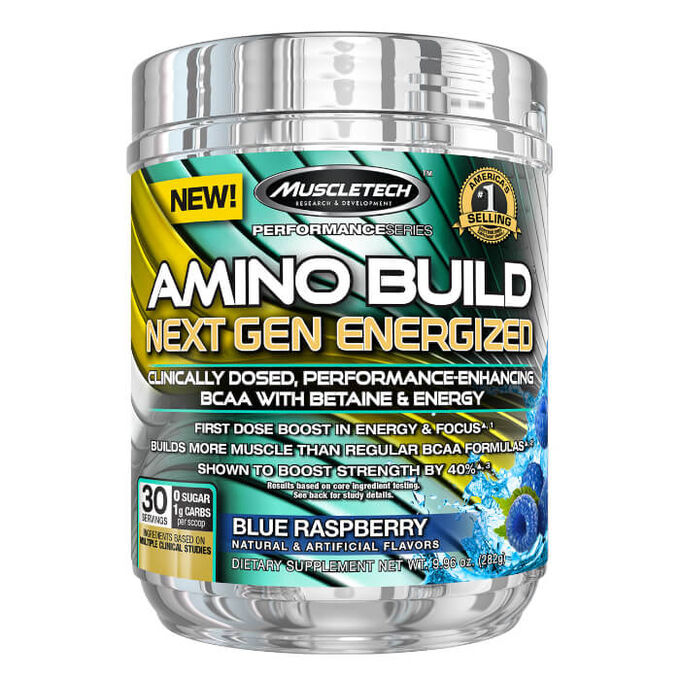 Muscletech Amino Build Next Gen Energized 30 Servings Blue Raspberry