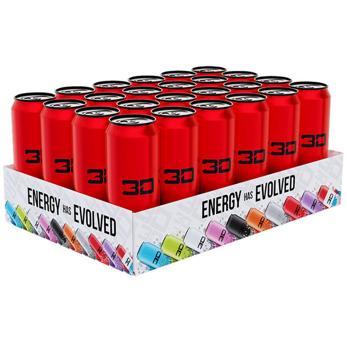 3D Energy 3D Energy Drink 24 Cans Red