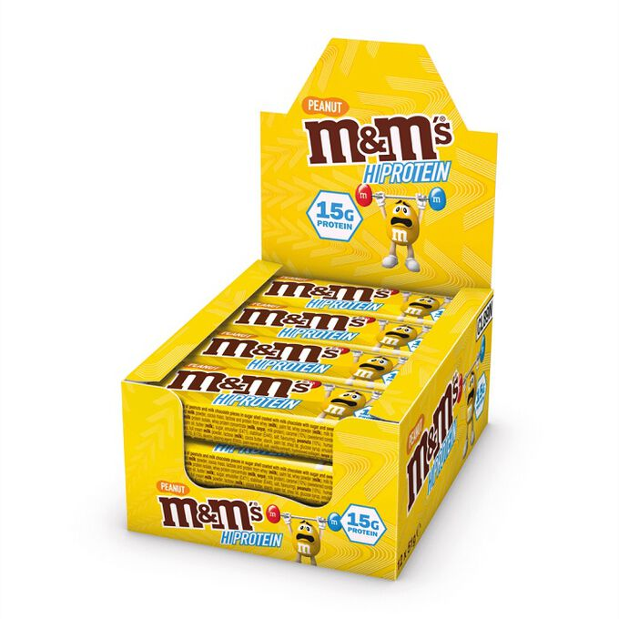Mars M&M's  HI Protein Bar 12 Bars Peanut