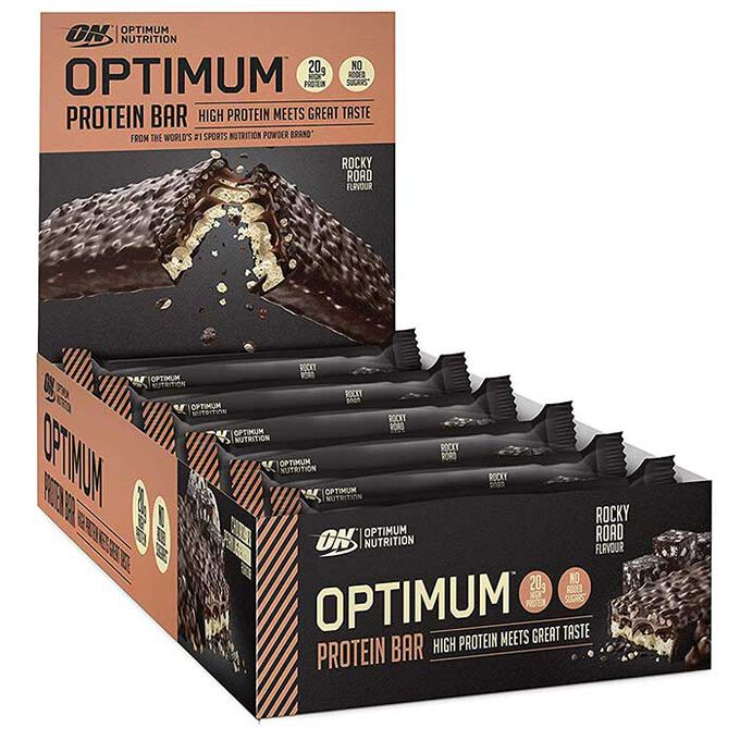 Optimum Protein Bar 10 Bars Rocky Road