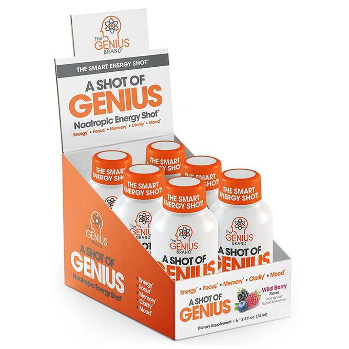 A Shot Of Genius 6 Bottles Wild Berry