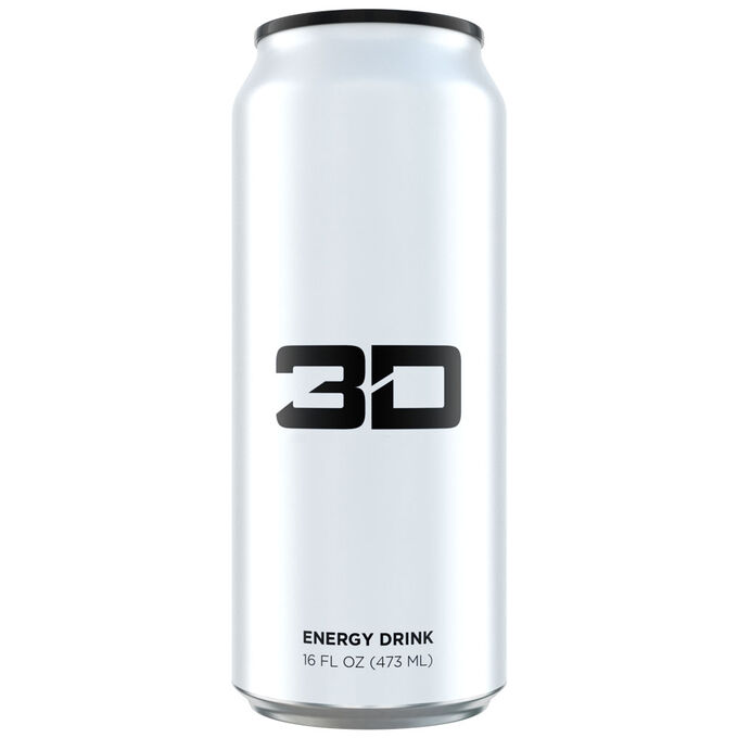 3D Energy Drink 1 Can White