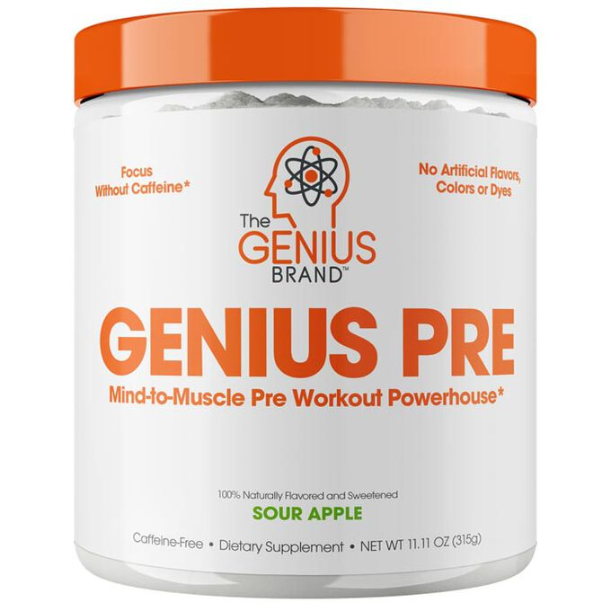 The Genius Brand Genius Pre 20 Servings Sour Apple