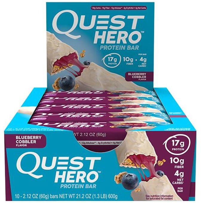 Quest Nutrition Quest Hero Bar 10 Bars Chocolate Peanut Butter