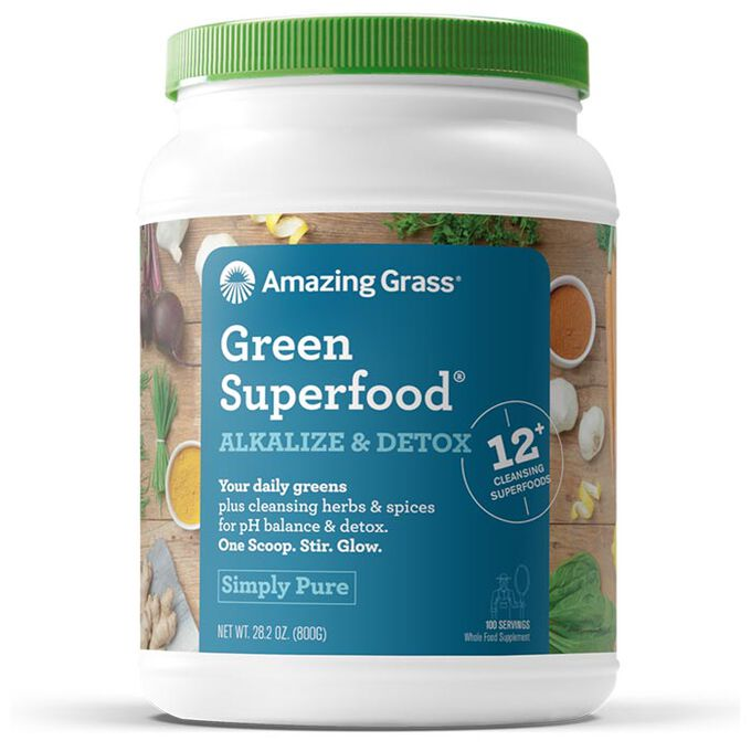 Amazing Grass Green SuperFood Alkalize & Detox 100 Servings