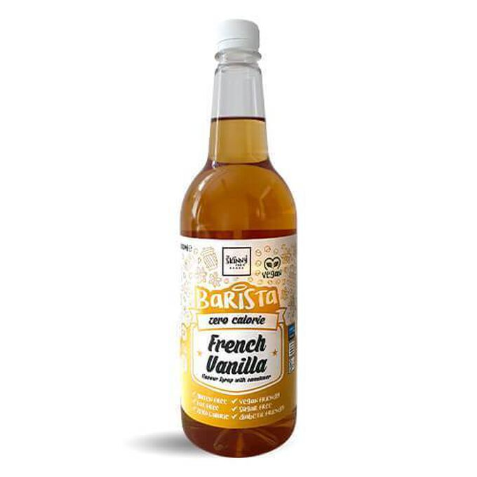 The Skinny Food Co Non-Dairy Sugar Free Barista Syrup 1 Litre  French Vanilla