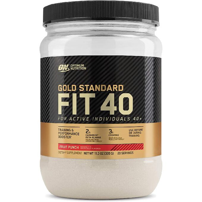 Optimum Nutrition Fit 40 Pre-Workout 20 Servings Fruit Punch