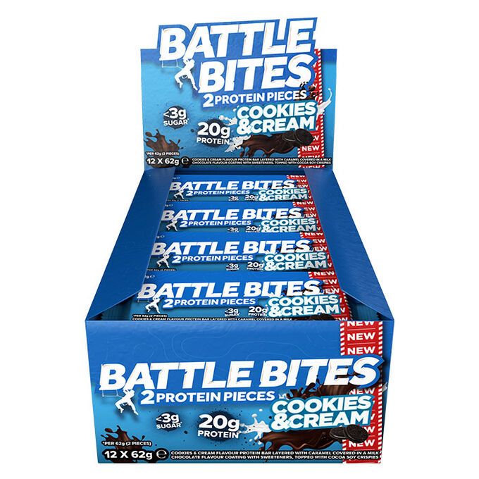 Battle Bites 12 Bars Cookies & Cream
