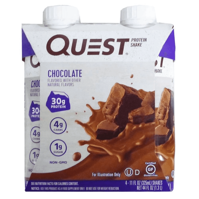 Quest Nutrition Quest Protein Shake RTD 4 Pack Chocolate