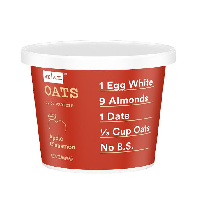 RX Bar RX A.M. Oats 12 Cups Apple Cinnamon