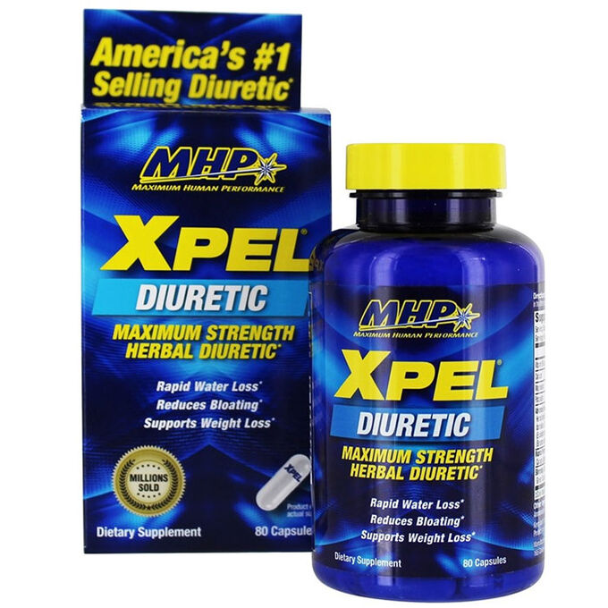 MHP MusclePharm Xpel 80 Caps - Herbal Diuretic